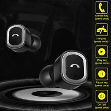 Mini Bass Twins Wireless BT Headphones Stereo Headset In-Ear Earbuds with MIC