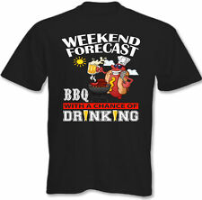 Weekend Forecast BBQ ' Ing Bere - T-Shirt Uomo Barbecue Chef Cucina