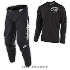 19 Troy Lee Designs GP Mono Black schwarz motocross Combo Cross Hose Jersey