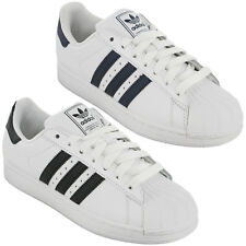 Adidas Originals White Superstar 2 Trainers Leather Mens Sports Fashion UK 7-12