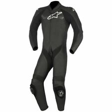 Alpinestars Challenger V2 Black White 1 Piece Leather Motorcycle Suit New