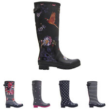 Womens Joules Printed Wellies Waterproof Rubber Knee High Wellingtons UK 3-9