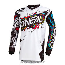 2019 o' Neal Element Villain Bianco Giallo Jersey,Jersey Mx Motocross MTB Dh