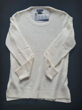 Tommy Hilfiger Pullover Donna Lana/Cashmere Bianco come Neve TG. M, L NUOVO