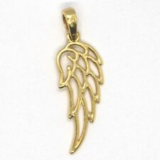 PENDENTIF EN OR JAUNE OU BLANC 750 18K, AILE ANGE TUTEUR, AILES, MADE IN ITALY