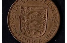 Jersey 1/12th  Of A Shilling Pre Decimal Penny Silver Plated