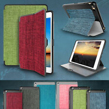 For Apple iPad , Mini & Air Fabric Case Slim Smart Stand TPU Protective Cover