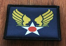 WWII Army Air Force Morale Patch Tactical ARMY Hook Military Flag USA Badge