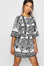 Boohoo Womens Embroidered Boutique Detail Playsuit