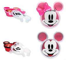 Disney Store Minnie Mouse Mickey Mouse Covered Plate with Lid Disney Eats 2018