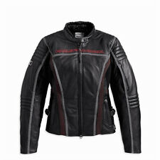 Harley Davidson Mujer Velocity Rcs Cuero Impermeable CHAQUETA S 97155-13VW