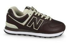 SNEAKER UOMO NEW BALANCE 574  RUNNING SPORT LIFESTYLE LEATHER BROWN
