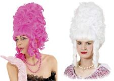 PURPLE AFRO WIG WITH RED BOWS Panto Dame//Ugly Sister//Widow Twanky Accessory