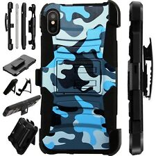 Lux-Guard For iPhone 6/7/8 PLUS/X/XR/XS Max Phone Case Cover BLUE CAMO