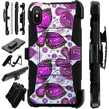 Lux-Guard For iPhone 6/7/8 PLUS/X/XR/XS Max Phone Case Cover PURPLE BUTTERFLY