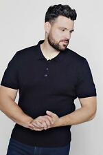 Boohoo Mens Big And Tall Short Sleeve Knitted Polo
