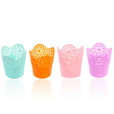 Hollow Flower Brush Storage Pen Pencil Holder Container Organizer 7 Colors New