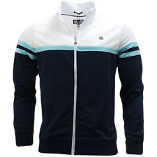 Weekend Offender Navy / White Full Zip Track Maglione Top - Moore