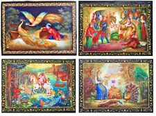 LOVELY BRAND NEW RUSSIAN LACQUER BOXES/RUSSIAN EPIC/10cmx8cm/DIFFERENT DESIGNS