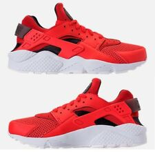 NIKE AIR HUARACHE RUN MEN's SPANDEX RUNNING HABANERO RED - BLACK - WHITE NEW SZ