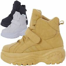 NEW WOMENS SHOES LADIES HI TOP CHUNKY TRAINERS TRENDY SNEAKERS CASUAL SIZE STYLE