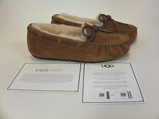 UGG Australia Kids Dakota Chestnut Moccasin Girls Size 1 NEW