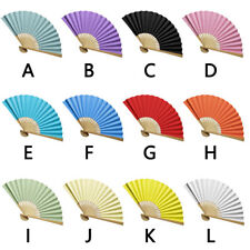Chinese style Hand Held Fan Bamboo Silk Folding Fan Party Wedding Decor Paper