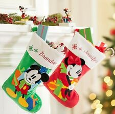 Disney Store Minnie or Mickey Mouse Christmas Stocking Red Green 2015 New