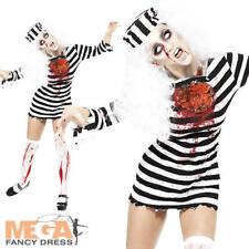 Zombie Convict Ladies Halloween Undead Fancy Dress Womens Adult Costume Outfit
