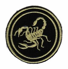 Army Tactical Morale Biker Motorcycle Patch Gold Scorpio Golden Scorpion