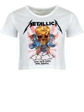 Metallica Scales Women's White Cropped T-shirt