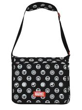 Marvel Comics All Over Hero Crests Black Messenger Bag 47x38cm