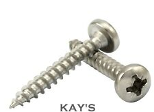 5mm POZI DRIVE PAN HEAD CHIPBOARD FULLY THREADED WOOD SCREWS A2 STAINLESS STEEL
