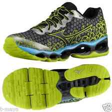 Mizuno Wave Prophecy 3 Uomo M Running Mesh Scuro Ardesia - Verde Lime Punch -