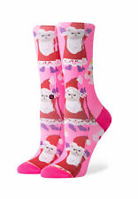 Stance Calcetines de Mujer Tomboy Santipaws Crew Fucsia