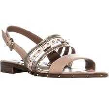 Nine West Chaylen Basse Sandali con Fibbia, Light Natural Multi
