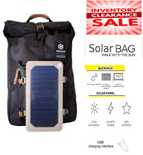 backpack School  W/ solar panel USB Travel bag emergency Camping Hiking outdoor