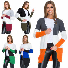 Womens Striped Open Cardigans Long Sleeves Ladies Casual Sweater One Size WA68