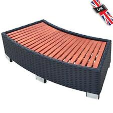 x2 rattan steps for Black Poly Rattan Spa Surround Hot Tub out door