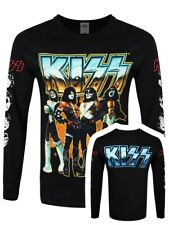KISS T-Shirt Love Gun Chrome Long Sleeve Men's Black