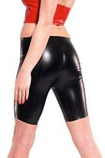 NEW Black Latex Rubber Female Bermuda Shorts (ENGLISH) S M L XL