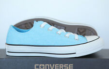 0f80857ca878 New all Star Converse Chucks Low Shoes Trainers Neon Blue Light Blue 136583c