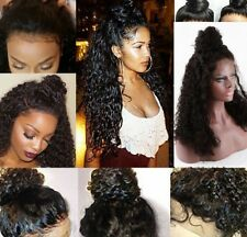 Brazilian Human Hair Lace Front Wigs Full Lace Wig With Baby Hair Deep Curly Wig