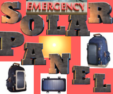 Backpack Solar Panel USB School Travel Hiking Laptop Camping Outdoor emergency