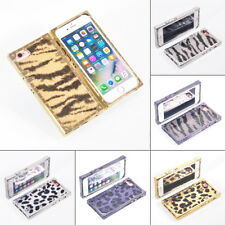 Bling Glitter Leopard Zebra Pattern Leather Case Cover For iPhone X XS Max 6 7 8