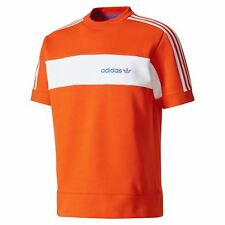 adidas ORIGINALS MINOH CREW NECK T SHIRT ORANGE FLEECE RETRO ORANGE TREFOIL