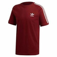 adidas ORIGINALS ADICOLOR CALIFORNIA T SHIRT RED TEE TOP CREW NECK TREFOIL NEW