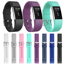 Silicone Rubber Replacement Strap Wristband Band Bracelet For Fitbit Charge 2