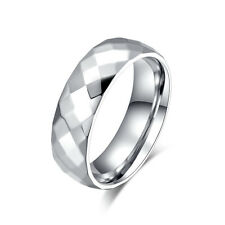 Luxury Size 5 to 13  Stainless Steel Womans Mans Engagement Wedding Rings