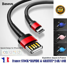 CABLE CHARGEUR SYNC RAPIDE iPHONE 5 C 6 7 8 X Xs Xr Xsmax IPAD IPOD retractable